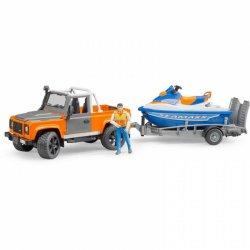 Bruder Τετρακίνητο Land Rover Defender Με Τρέιλερ Και Jet Ski(02599)