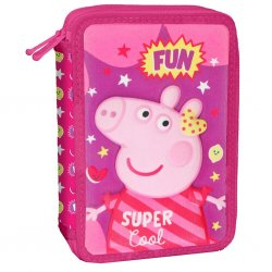 Κασετίνα Διπλή Γεμάτη 3D Peppa Pig (482620)