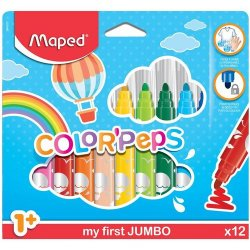 MAPED ΜΑΡΚΑΔΟΡΟΙ COLOR' PEPS MAXI 12ΤΜΧ (MAP846020)