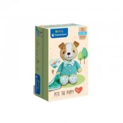 Baby Clementoni Χνουδωτό Γλυκό Σκυλάκι σε Κουτί Δώρου(1000-17417)
