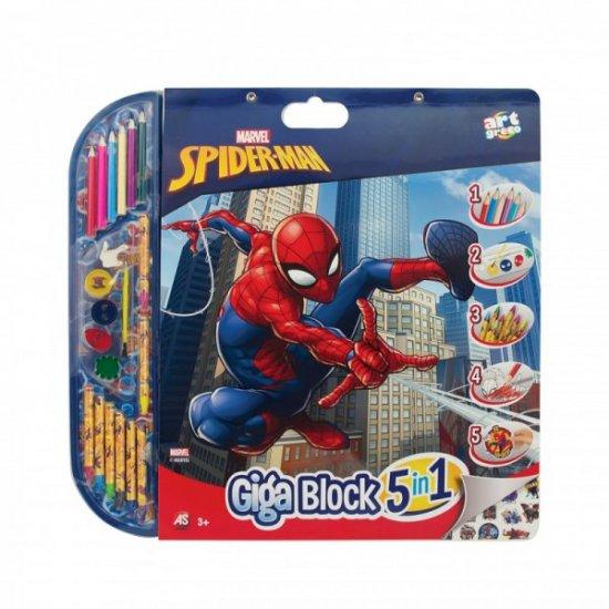 Spiderman 5 IN 1 Σετ Ζωγραφικής (1023-62723)