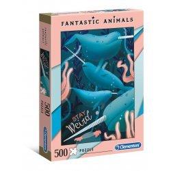 ΠΑΖΛ CLEMENTONI 500 H.Q. FANTASTIC ANIMALS NARWHAL (1260-35070)