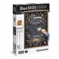 ΠΑΖΛ CLEMENTONI 1000 H.Q. ΜΑΥΡΟΠΙΝΑΚΑΣ Coffee (1260-39466)