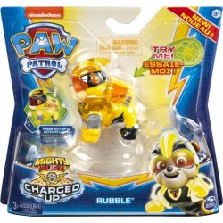 PAW PATROL MIGHTY PUPS CHARGED UP RUBBLE FIGURE (20122535)