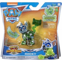 PAW PATROL MIGHTY PUPS CHARGED UP ROCKY FIGURE (20122536)