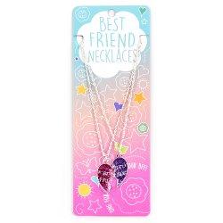 ΚΟΛΙΕ BEST FRIENDS ΣΕΤ 2 ΤΕΜ PINK-PURPLE SPLIT HEART(14482395)