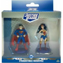 JUSTICE LEAGUE ΦΙΓΟΥΡΕΣ 7ΕΚ  2 PACK SUPERMAN - WONDER WOMAN (JUT01000)