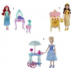 DISNEY PRINCESS DOLLS WITH MINI ENVIROMENT (E2912)