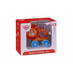 Tooky Toy Συρόμενο Λιοντάρι Με Χάντρες (TKE010)