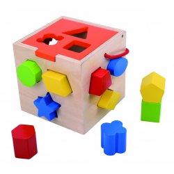 Tooky Toy ΞΥΛΙΝΟΣ ΚΥΒΟΣ-ΣΦΗΝΩΜΑΤΑ (TKA977)