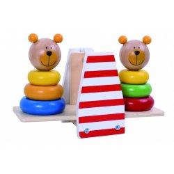 Tooky Toy ΞΥΛΙΝΗ ΖΥΓΑΡΙΑ ΜΕ ΑΡΚΟΥΔΑΚΙΑ ΠΥΡΑΜΙΔΕΣ (tkb499)