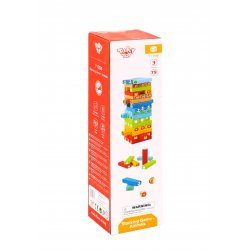 Tooky Toy ΞΥΛΙΝΟ ΠΑΙΧΝΙΔΙ ΣΤΟΙΒΑΞΗΣ & ΙΣΟΡΡΟΠΙΑΣ - ΖΩΑΚΙΑ (TY704)
