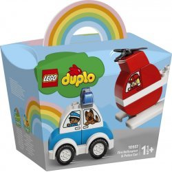 LEGO DUPLO FIRST FIRE HELICOPTER AND POLICE CAR (10957)