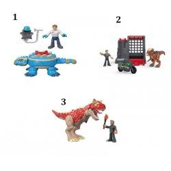 Fisher Price Imaginext Jurassic World Δεινόσαυρος Και Φιγούρα - 3 Σχέδια (FMX88)