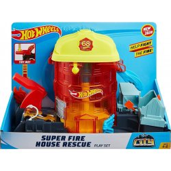HOT WHEELS CITY ΣΟΥΠΕΡ ΠΙΣΤΕΣ Πυροσβεστική Super Fire House Resque (GJL06)