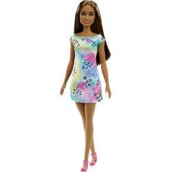 BARBIE ΛΟΥΛΟΥΔΑΤΑ ΦΟΡΕΜΑΤΑ  Μελαχρινη Κούκλα Με Πολύχρωμο Φόρεμα (GVJ97)