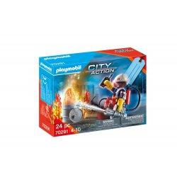 PLAYMOBIL Gift Set Πυροσβέστης με αντλία νερού (70291)