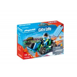 PLAYMOBIL Gift Set Οδηγός με Go-Kart (70292)