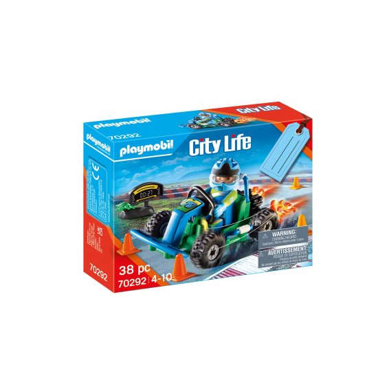PLAYMOBIL Gift Set Οδηγός με Go-Kart (70292)