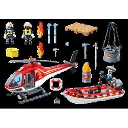 PLAYMOBIL Πυροσβεστικό σκάφος και ελικόπτερο (70335)