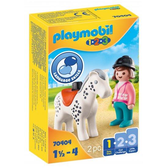 PLAYMOBIL  Αναβάτρια με άλογο (70404)