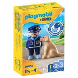 PLAYMOBIL Αστυνομικός με εκπαιδευμένο σκύλο (70408)