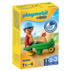 PLAYMOBIL Εργάτης με καροτσάκι (70409)