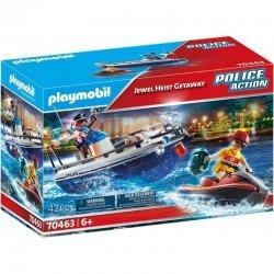 Playmobil Police Action Αστυνομικό Ταχύπλοο Και Ληστής Με Jet Ski (70463)