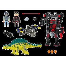 PLAYMOBIL Αγκυλόσαυρος με μαχητή εναντίον ρομπότ (70626)