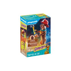 """PLAYMOBIL Συλλεκτική φιγούρα Scooby """"Πυροσβέστης"""" (70712)"""