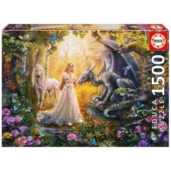 EDUCA ΠΑΖΛ 1500 ΤΕΜ Dragon Princess and Unicorn (17696)