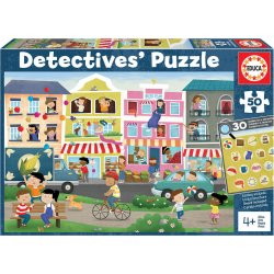 EDUCA PUZZLE 50ΤΕΜ. DETECTIVES BUSY TOWN (18894)
