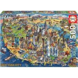 EDUCA ΠΑΖΛ 500 ΤΕΜ. NEW YORK CITY MAP (18453)