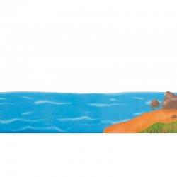 Σετ Σκηνικά Για Θεάτρο Σκιών Καραγκιόζη Θάλασσα Και Βάρκα (150)