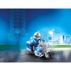 PLAYMOBIL Μοτοσικλέτα Αστυνομίας με φάρο που αναβοσβήνει (6923)