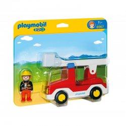 PLAYMOBIL 1 2 3 Πυροσβέστης με κλιμακοφόρο όχημα (6967)