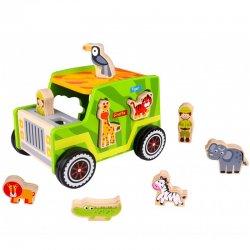 Ξύλινο Τζιπ Σαφάρι Tooky Toy (TKF005)